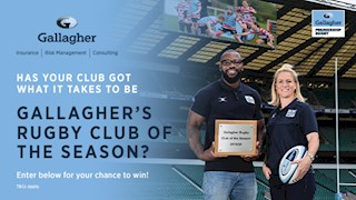 Enter Gallagher's rugby club of the season competition