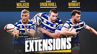 Underhill, Wright and Walker commit futures to Bath Rugby
