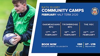 Just one week to go until Bath Rugby Half-Term Camps!