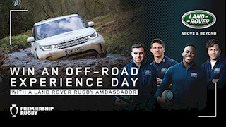 Win an off-road driving experience day with a Land Rover rugby ambassador