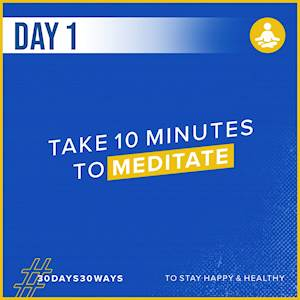 Day 1 - Take 10 minutes to meditate 🧘🏿