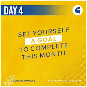 Day 4 - Set yourself a goal to complete this month 💪