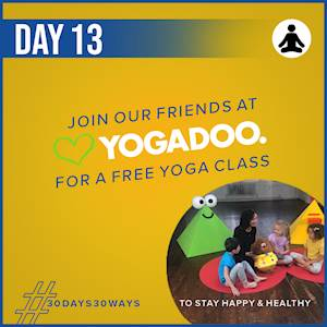 Day 13 - Free yoga classes 🧘