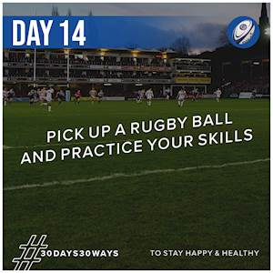 Day 14 - Practice your rugby skills 🏉