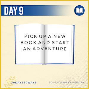 Day 9 - Pick up a new book 📖