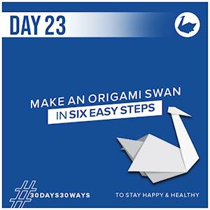 Day 23 - Make an origami swan 🦢
