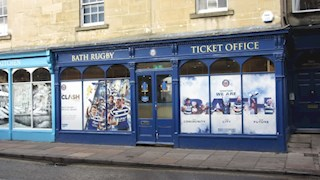 Bath Rugby Ticket Office Relocation