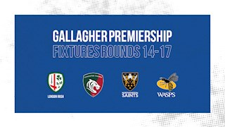 Premiership Rugby confirm rescheduled 2019/20 fixtures