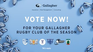 Voting now open for the inaugural Gallagher Rugby Club of the season award