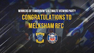Congratulations to Melksham RFC - Winners of tomorrow's ultimate viewing party