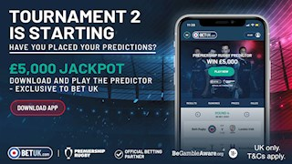 Tournament Two of the official Premiership Rugby predictor game begins